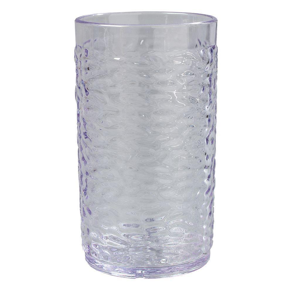 16.7 oz. SAN Plastic Pebble Optic Tumbler in Clear (Case of 24)