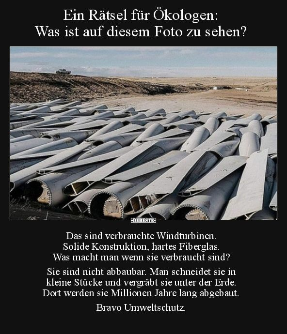 Photo of Une énigme pour les écologistes: ce que l'on voit sur cette photo ..