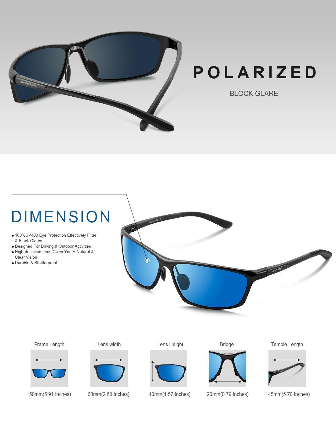 49e8877aee PAERDE Polarized Wayfarer Sunglasses For Men Women Retro UV400 Brand  Designer Sun glasses Metal Frame PA07Blackblue    You can get additional  details at the ...