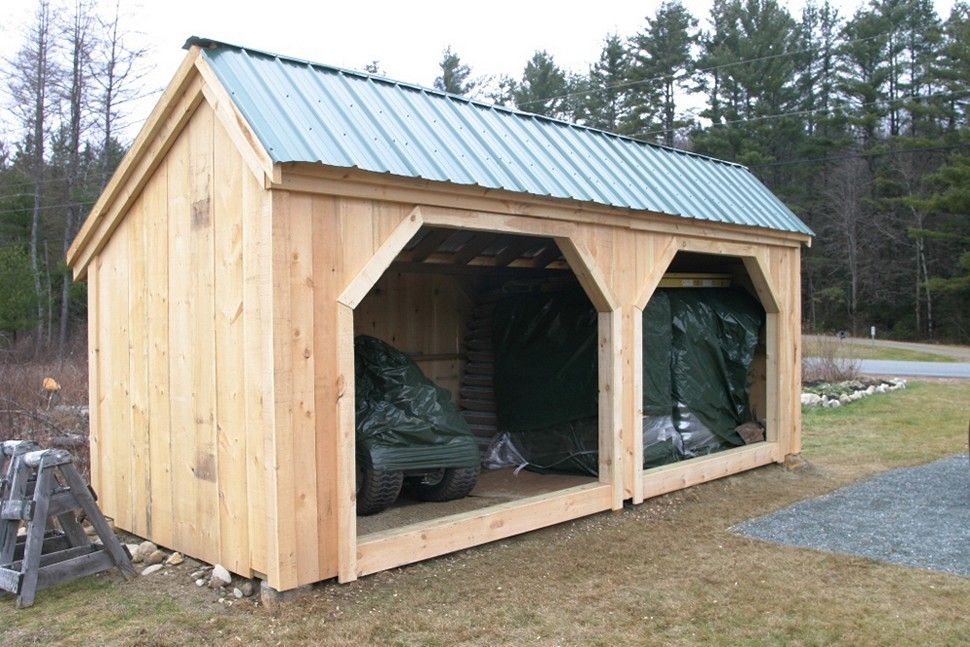 Large Firewood Storage Shed