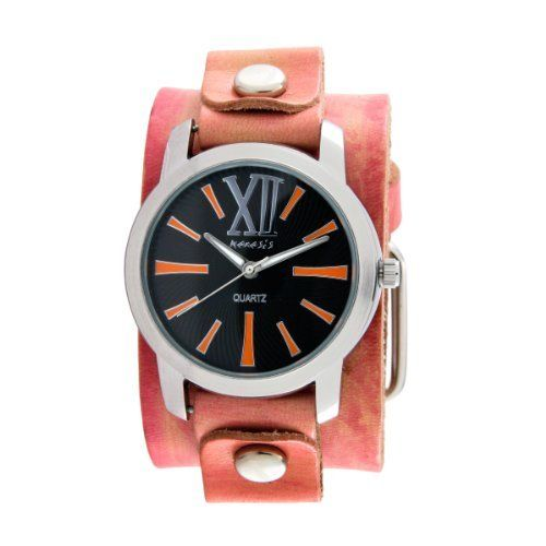 Nemesis Women's PVGB065KN Exclusive Collection Roman Washed Red Leather Cuff Watch Nemesis. $36.05