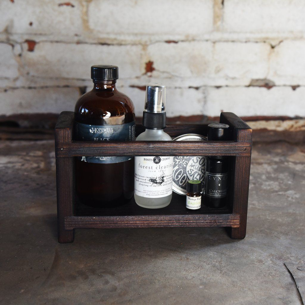 Woodworking Plans For Kitchen Spice Rack: Blackened Apothecary Caddy In 2019