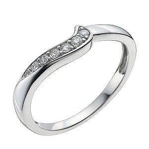 9ct White Gold 10 Point Diamond Shaped Ring Diamond Wedding Bands Engagement Rings Antique Engagement Rings