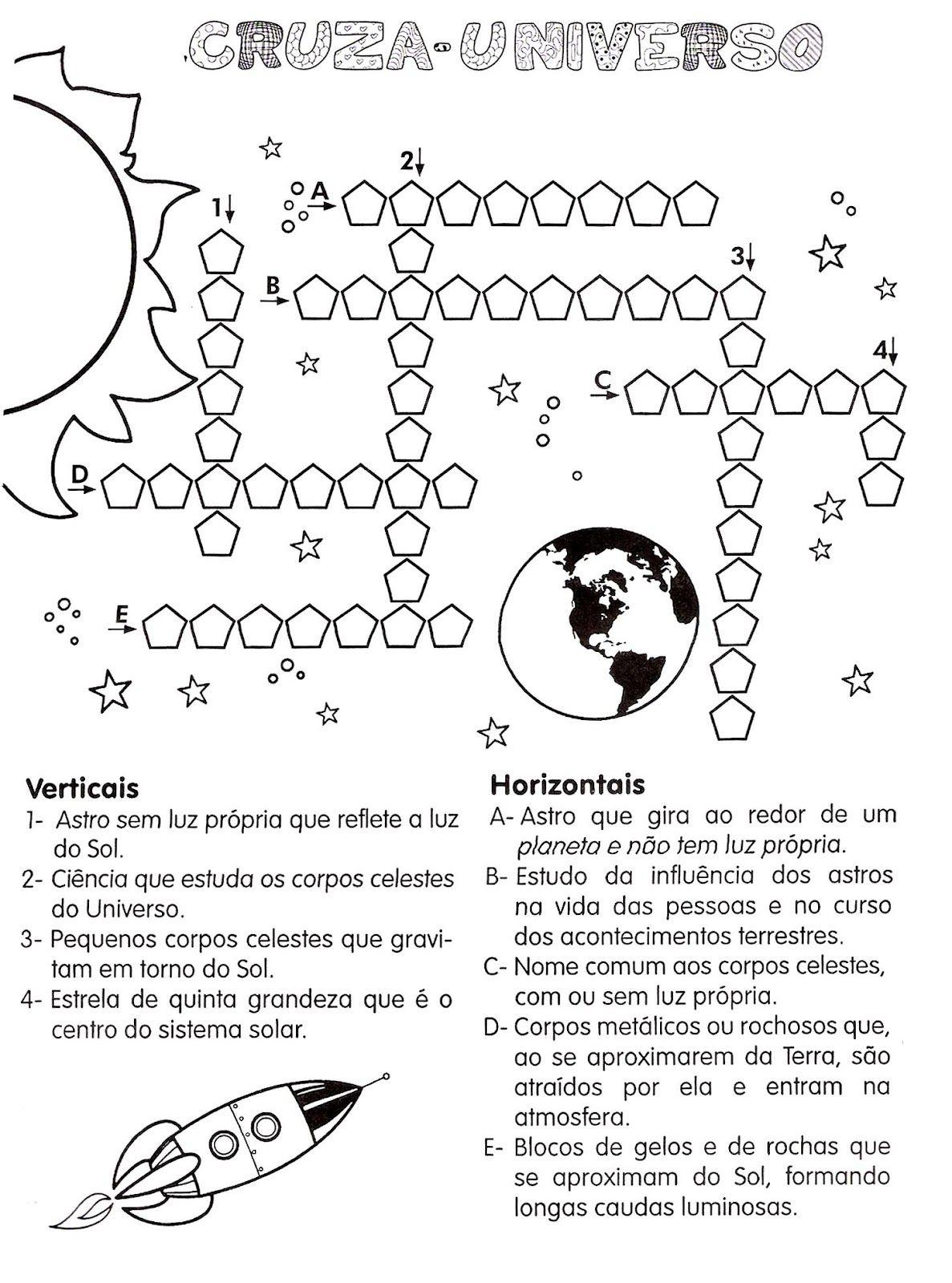 Atividades para ensinar os planetas do nosso sistema solar. Varias atividade excelente para ensinar ás crianças o nome e onde se situam os planetas que fazem parte do nosso sistema... Read more »