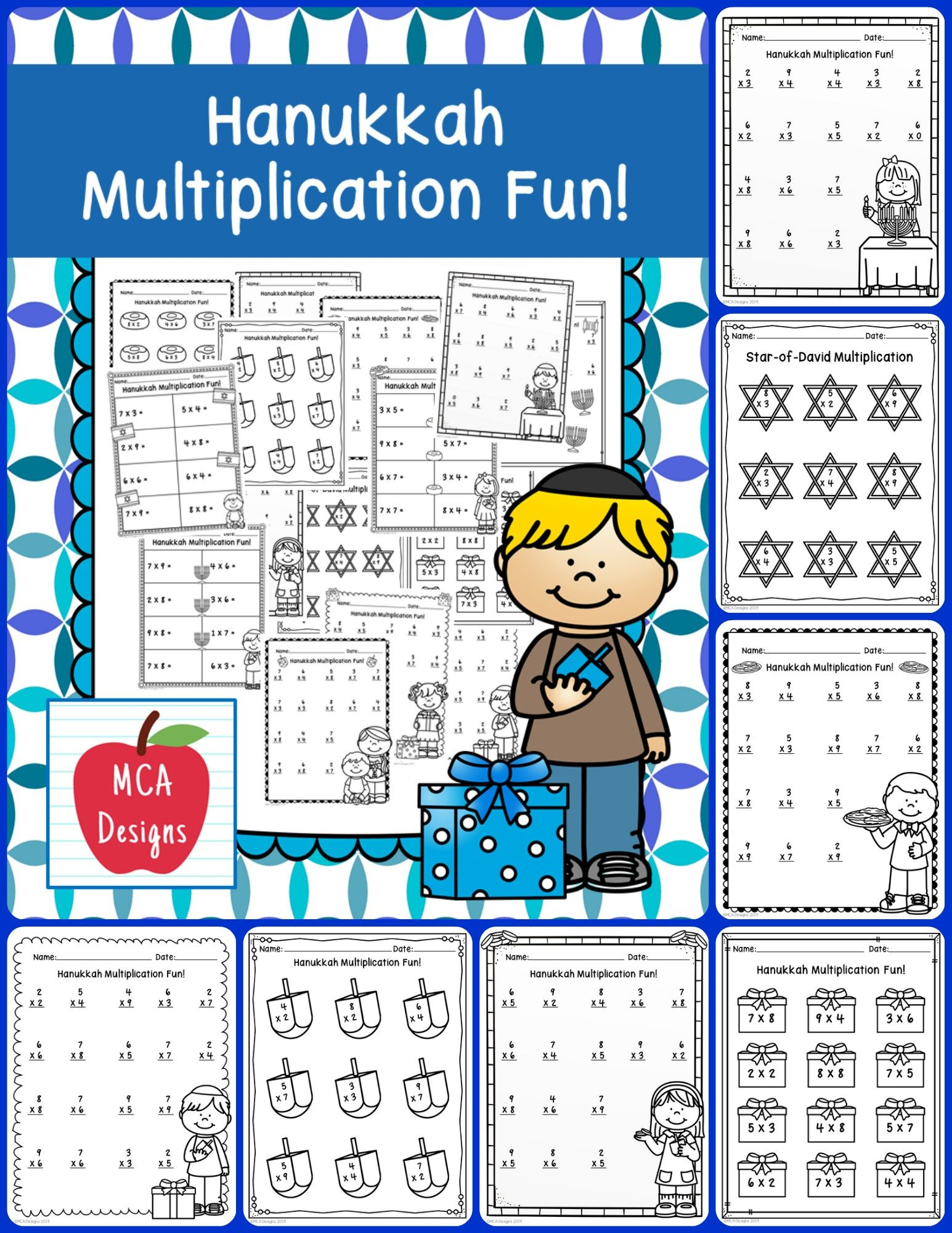 Hanukkah Multiplication Facts