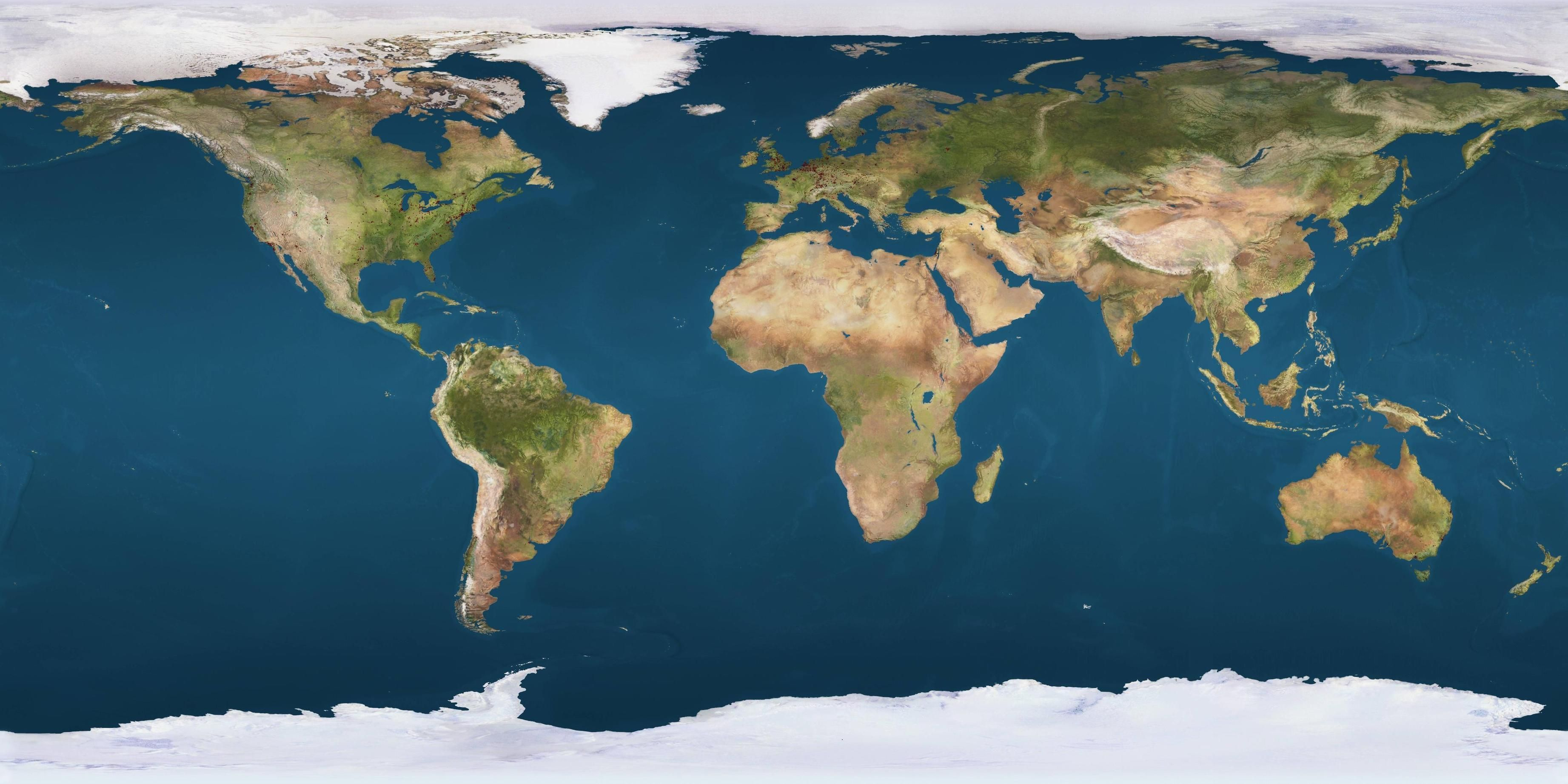 High Resolution map of Earth | Sweets in 2019 | Earth world map