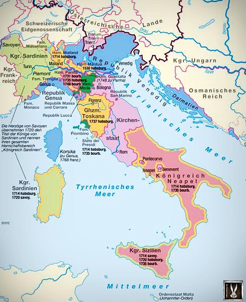 Italien Karte Geschichte