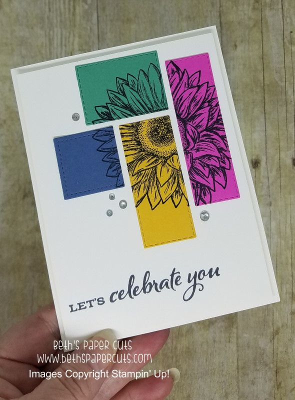 Geometric Sunflower by lizzier - Cards and Paper Crafts at Splitcoaststampers