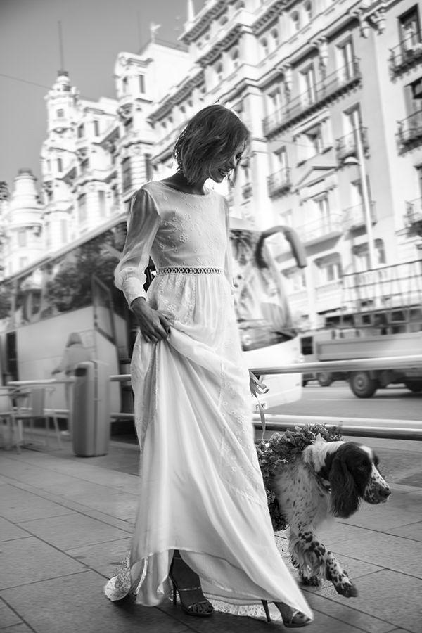 Vestido novia hoss intropia