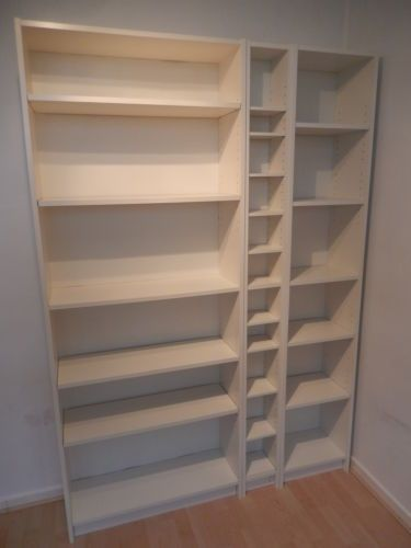IKEA BILLY BOOKCASES AND BENNO CD TOWER
