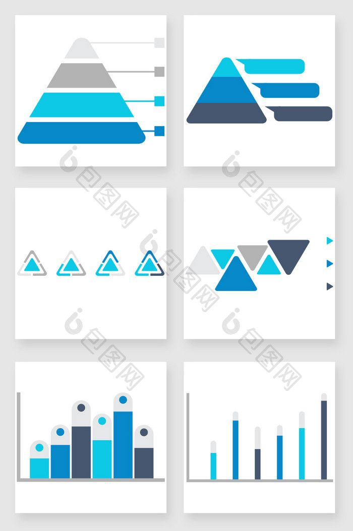 blue gray business data analysis chart ppt elements ppt powerpoint
