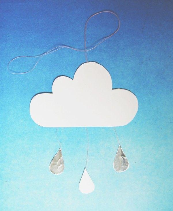 Diy Ein Kleines Wolken Mobile Wolken Pinterest Kleine Wolke