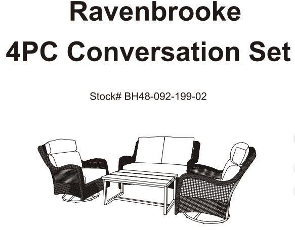 40be7bacfa098be286263c802d3d6c4b - Better Homes And Gardens Ravenbrooke 4 Piece Patio Conversation Set