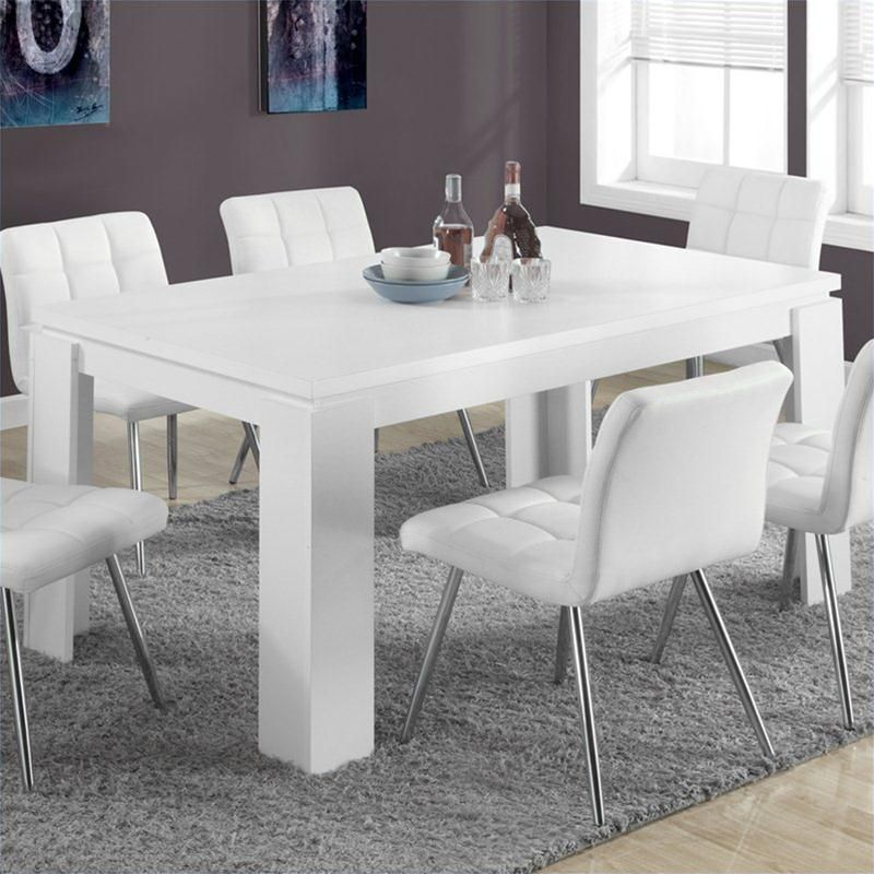 Monarch Hollow Core Dining Table In White Mesas De Comedor Decoracion Hogar Y Comedores Blancos