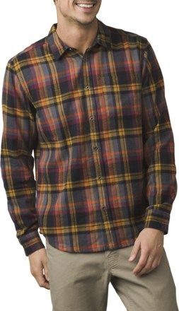 617dc352ff9 prAna Men s Woodman Flannel Shirt Bronze XXL