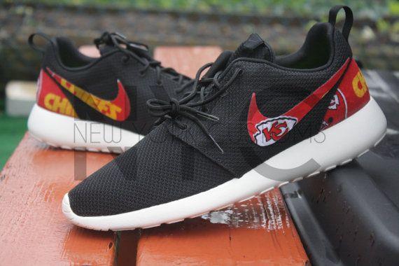 fd6a7388c36e Kansas City Chiefs Nike Roshe Run Black White Custom by NYCustoms ...