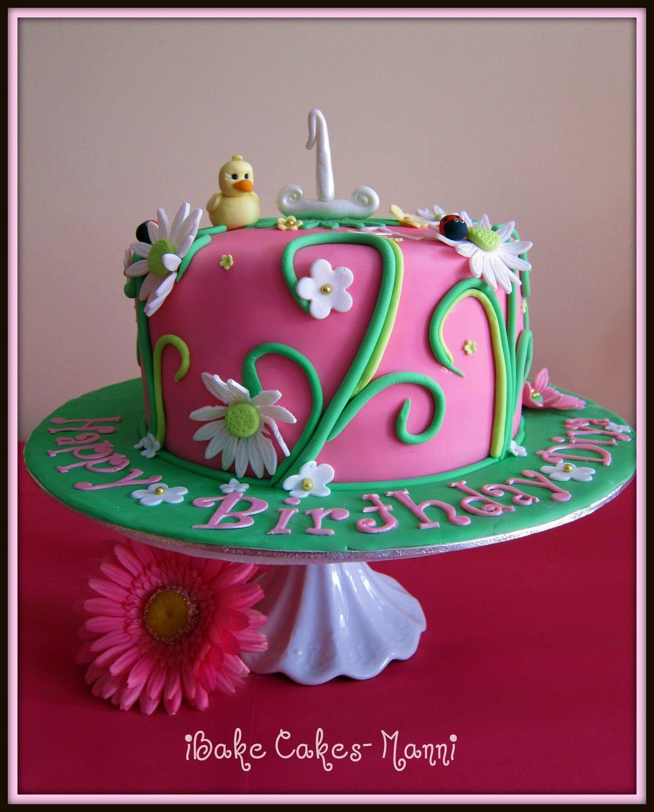 Diya27s1stbirthdaycakejpg 12881600 pixels cakes Pinterest