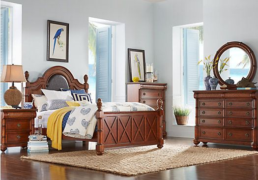 Cindy Crawford Home Key West Tobacco Panel 8 Pc King Bedroom ...