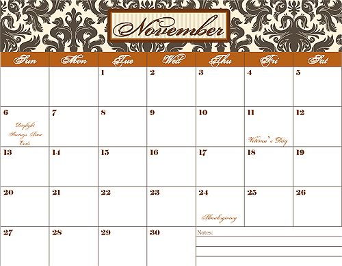 Lots of printables. Love the calendar pages!