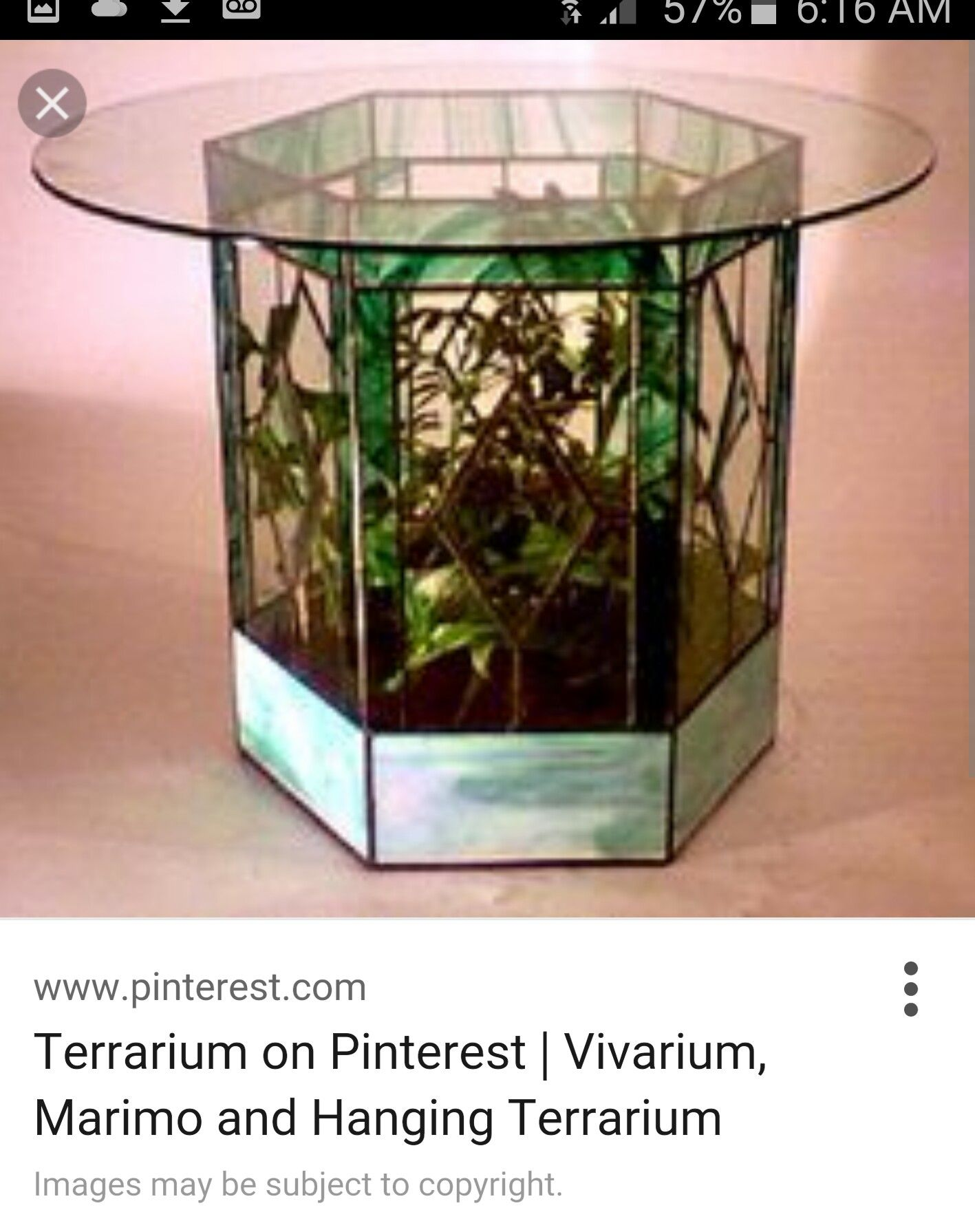 3d Stained Glass Terrarium Made Into Base For Glass Table