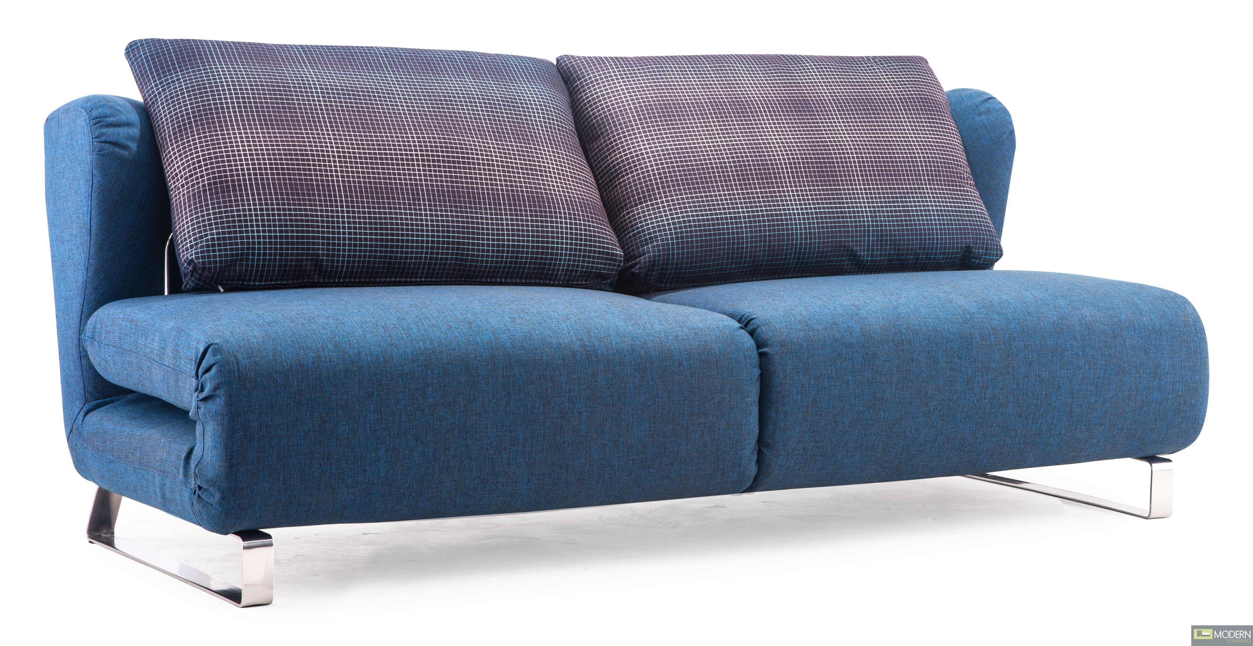 Excellent Conic Sofa Sleeper Cowboy Blue Body Shadow Grid Cushion Camellatalisay Diy Chair Ideas Camellatalisaycom