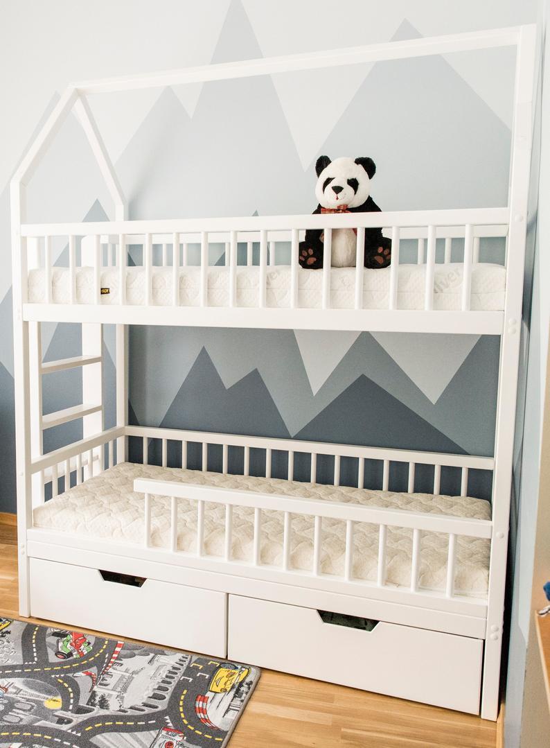 Bunk Beds Kids Beds Children Bed Toddler Bed Loft Bed Etsy In 2021 Kid Beds Bunk Beds Toddler Bed