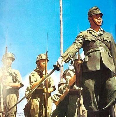 Japanese army garrison present...