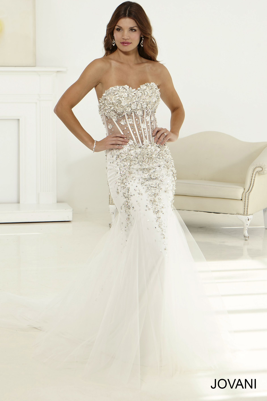 Exposed Corset Wedding Dress JB23960 prom in 2019