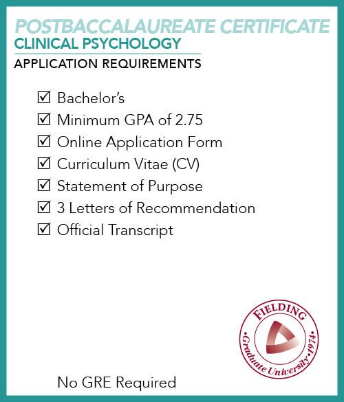 Postbaccalaureate Certificate in Clinical Psychology Application ...