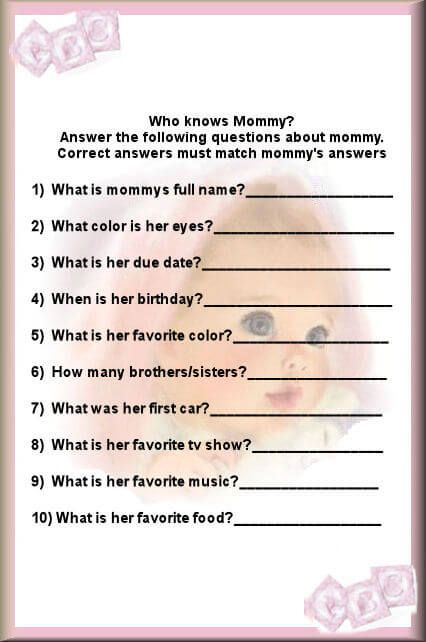 Lovely Who Knows Mommy Best Questions