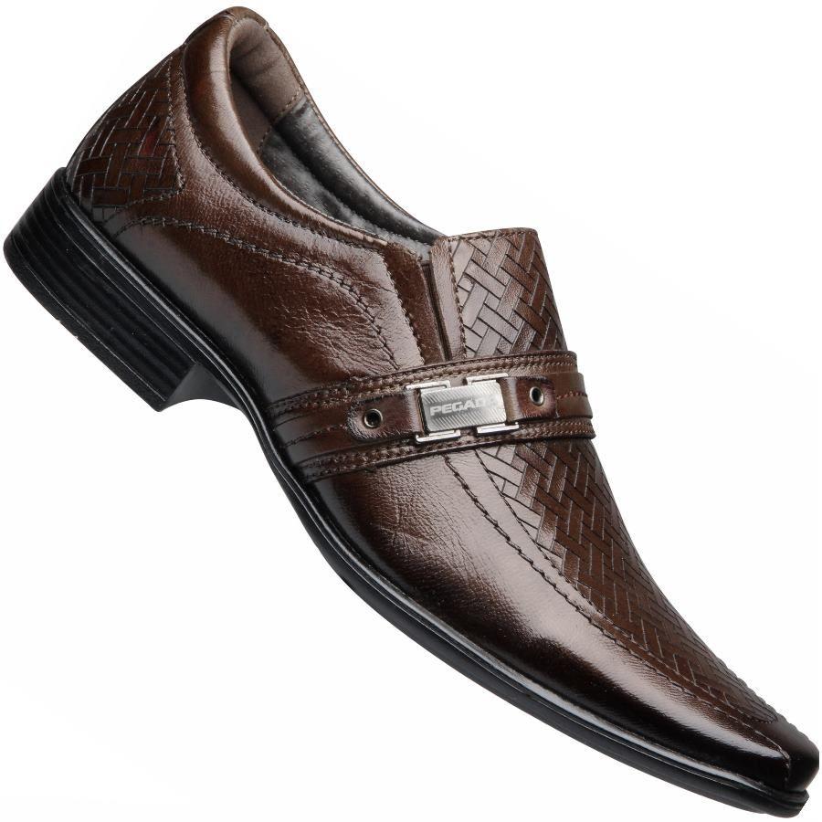 a383e0ed8 O Sapato Pegada Mestiço Social S/ Cadarço Masculino foi confeccionado em  couro natural, forro em material espumado, solado de borracha  antiderrapante.