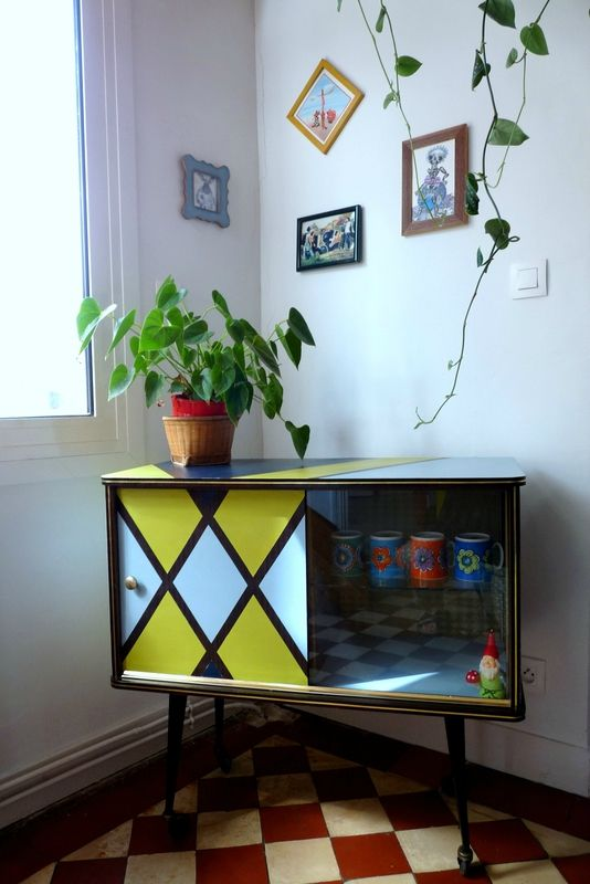 Relooker un meuble bar en formica diy pinterest for Meuble en formica