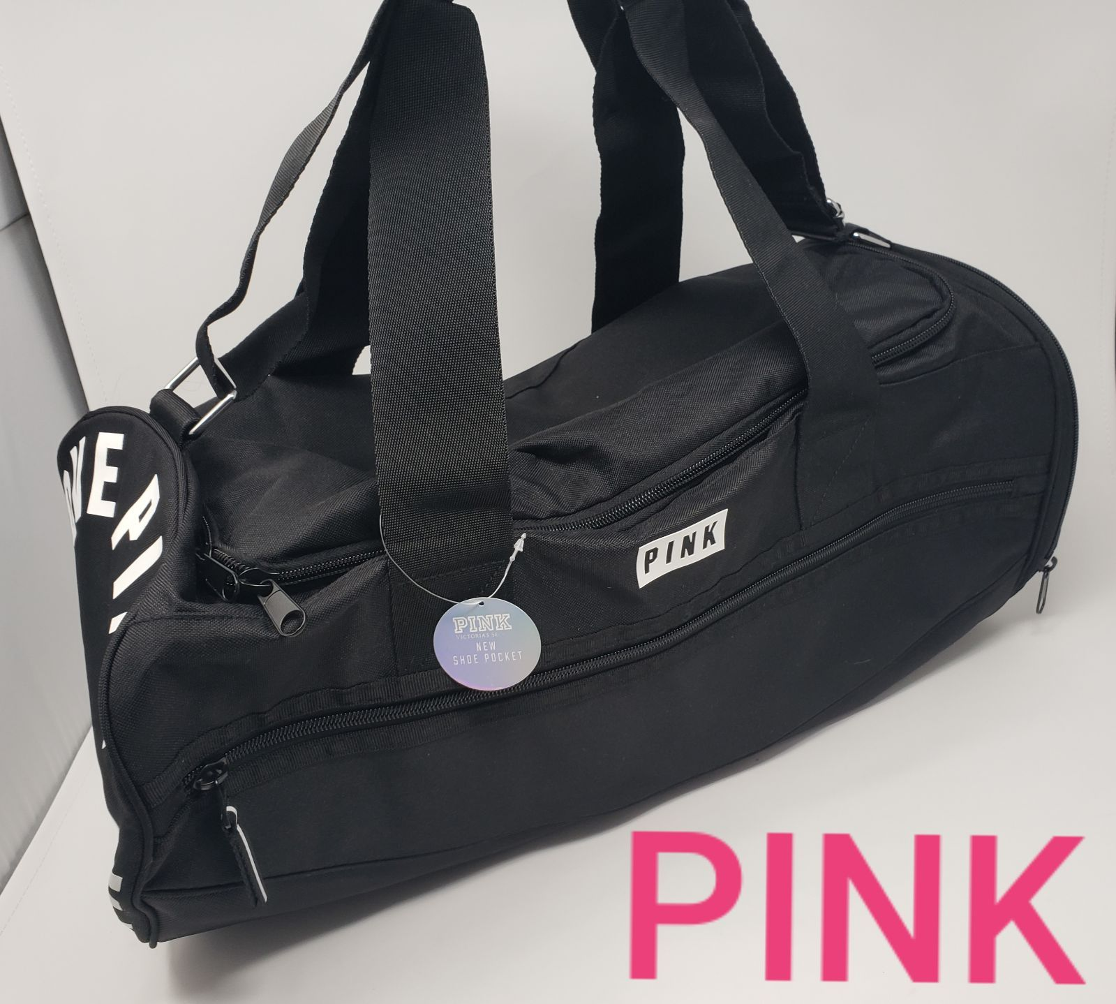 Brand new with tags Very rare find This duffle bag has a zippered side opening for shoes and a front zippered pocket Price is firm Measures roughly 20 x 10 x 10 Please ch...