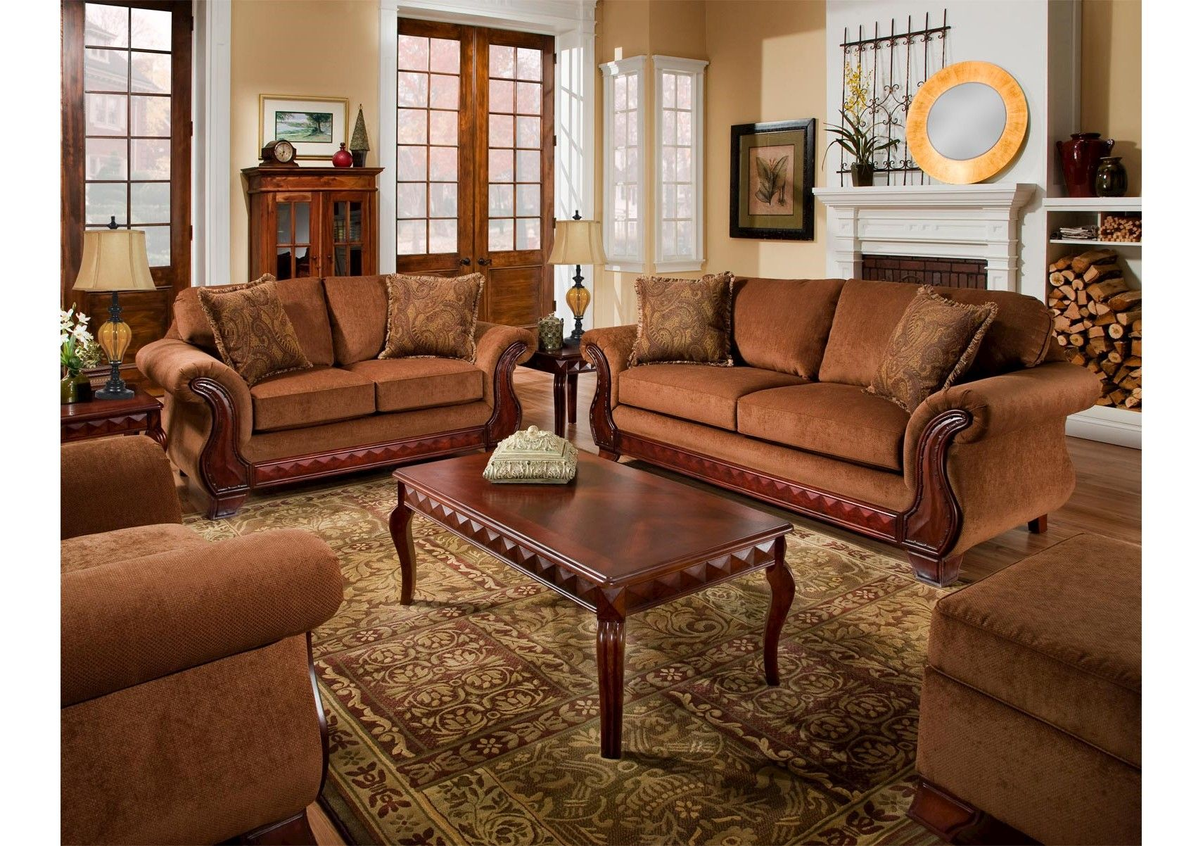 Best Lacks Balvenie Tobacco 2 Pc Living Room Set Living 400 x 300