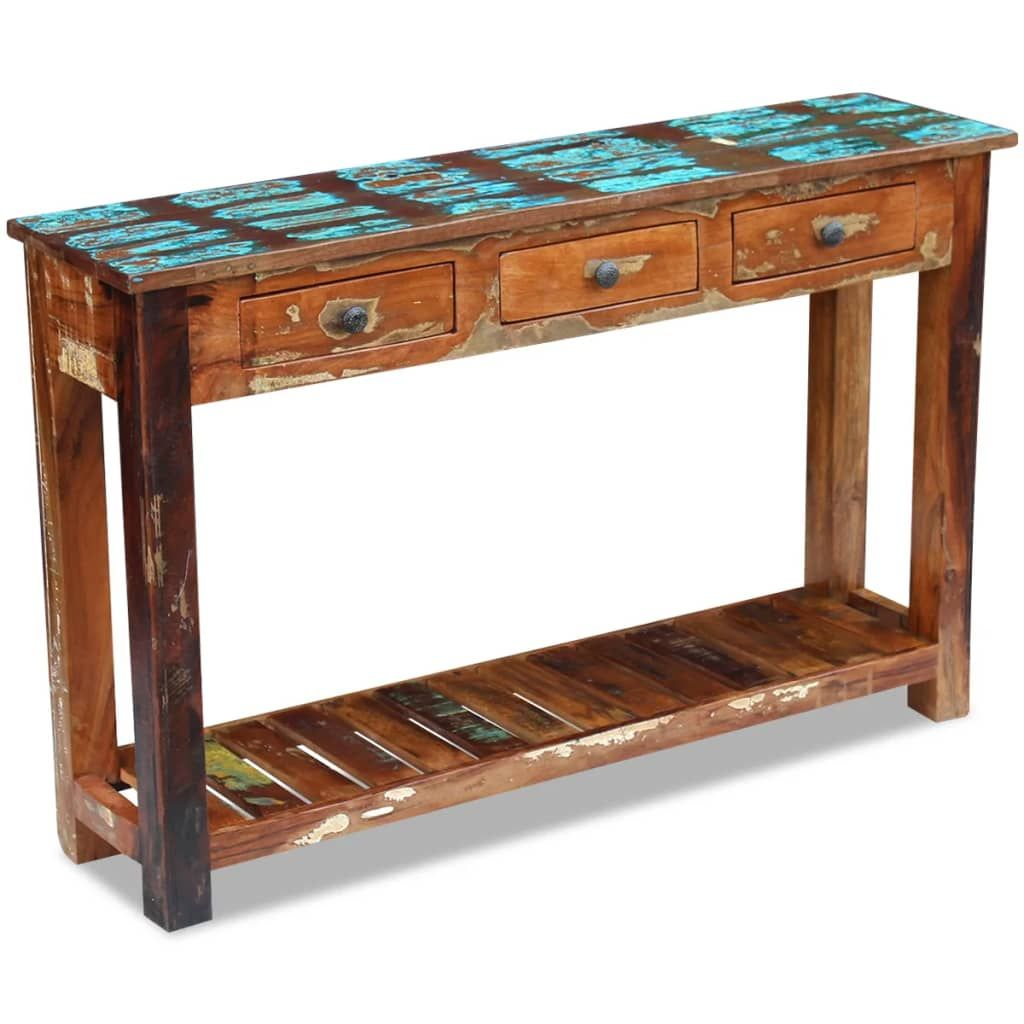 vidaXL Console Table Solid Reclaimed Wood 47.2