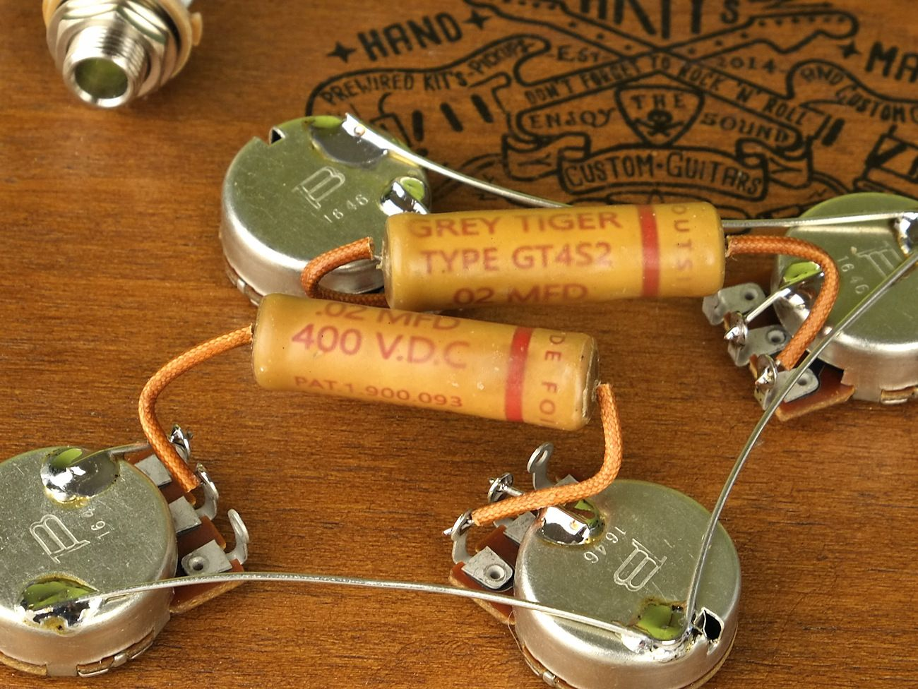 medium resolution of arty s custom guitars vintage pre wired prewired kit grey tiger bourns wiring assembly harness set