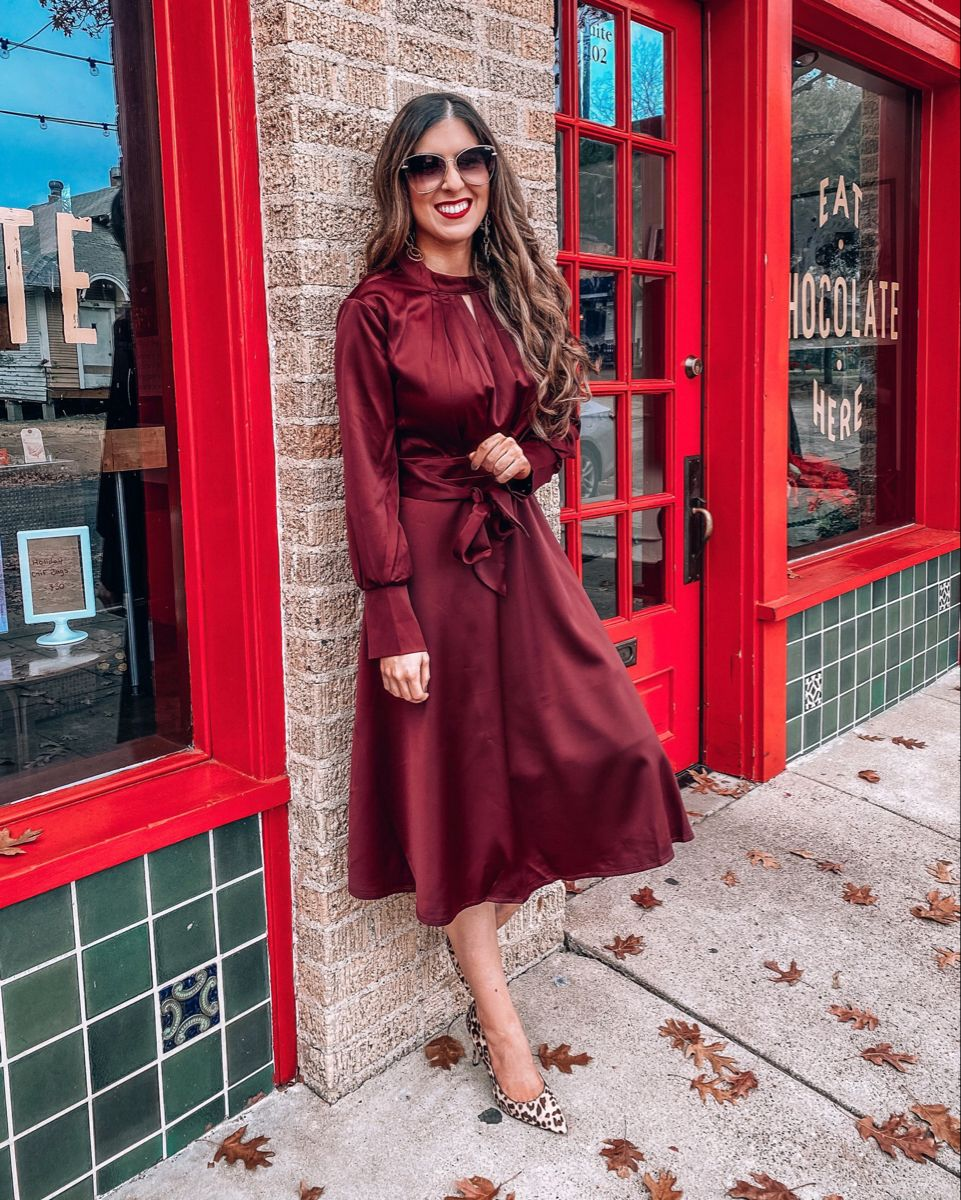 Beautiful Wine Dress @naomi.noel | LIKEtoKNOW.it
