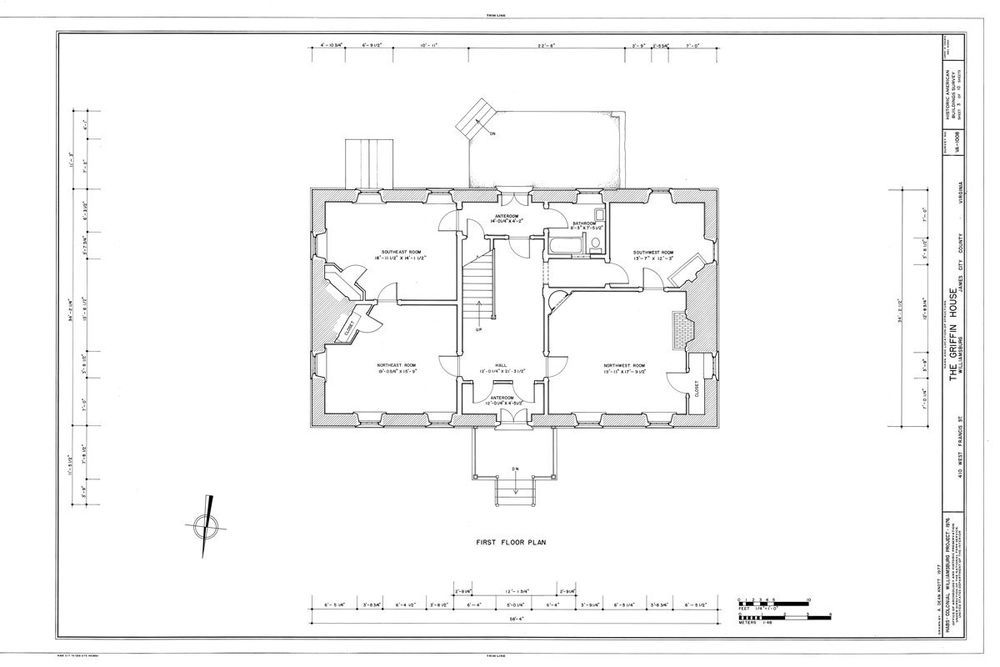 Traditional Style Colonial Home Plan Williamsburg Va Brick Construction Colonial House House Plans Brick Construction