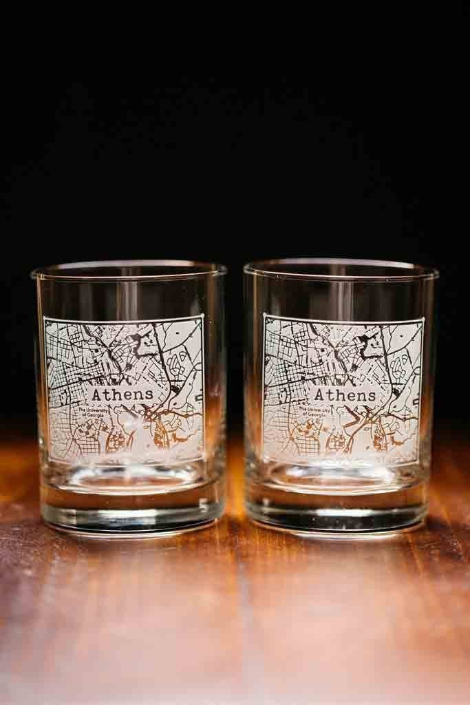 4 Best Rocks Glass Sets From Your Memorable College Town Glass Set Laser Engraved Glass Rocks Glass