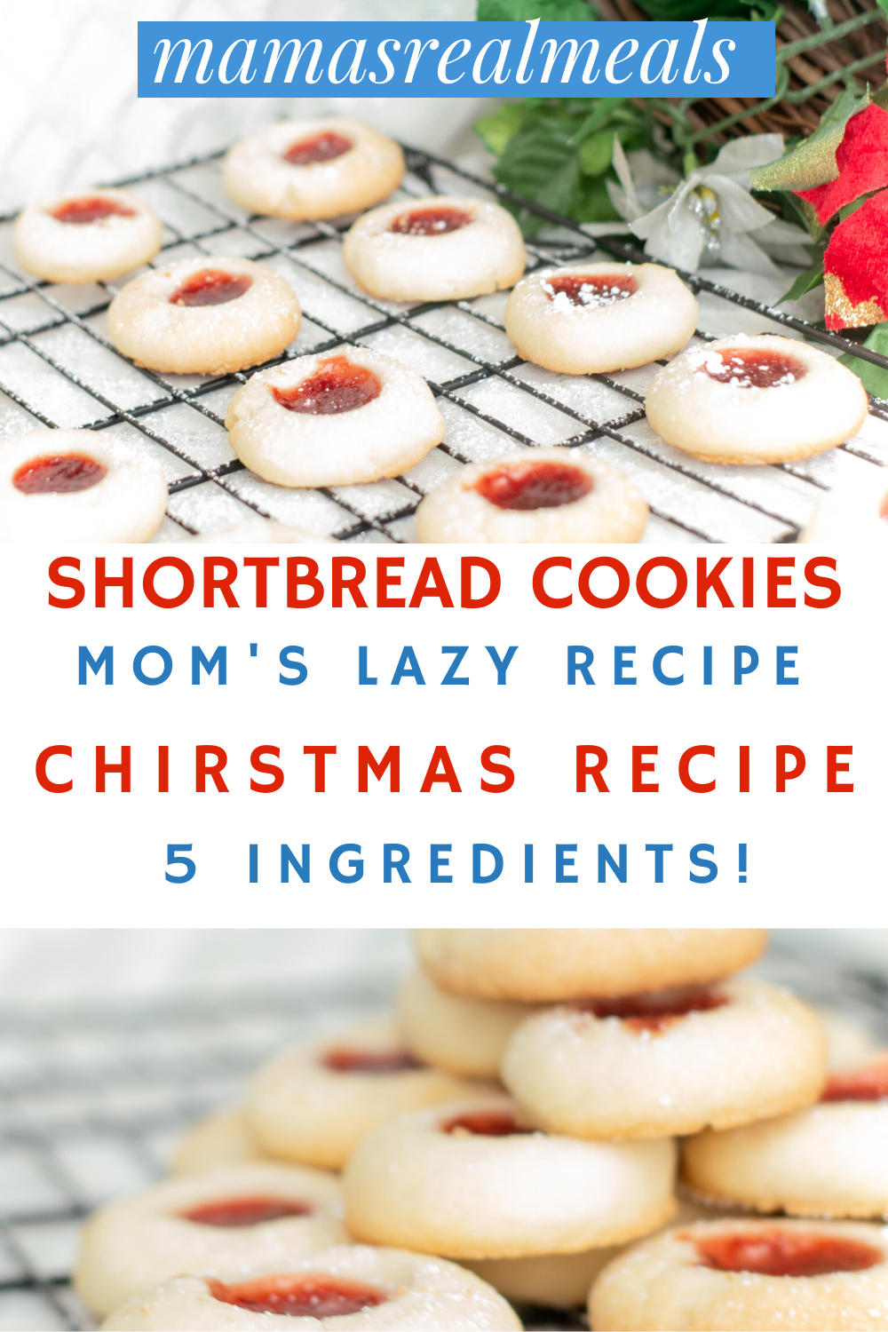 Easy Raspberry Shortbread Thumbprint Cookies Recipe Cookie Recipes Homemade Recipes Easy Christmas Cookie Recipes