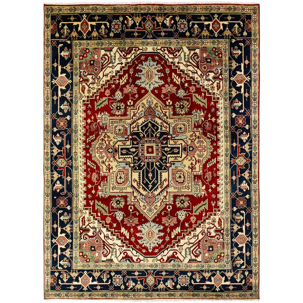 Kalaty Umbria Rust Navy 10 Ft X 14 Ft Area Rug Area Rugs Colorful Rugs Rugs
