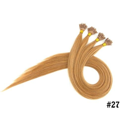 Honey Blonde Color For I Tip Hair #straighthairsale #fusionhair