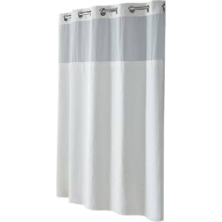 Hookless Diamond Shower Curtain White With Images Shower