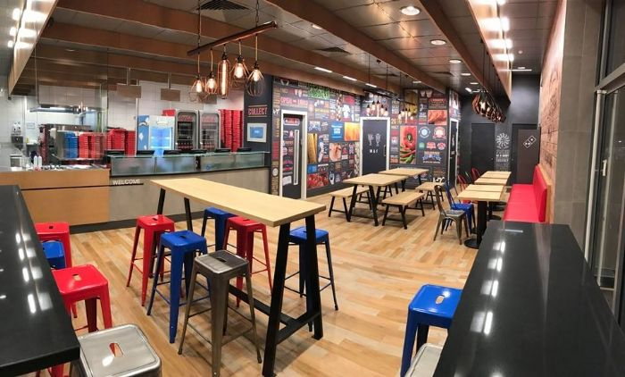 Dominos Pizza Interior Designers Wanted To Create A Fun Quirky And Vivacious Venue Which Needed Be Reflected Through The Lighting