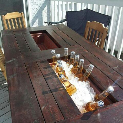 beer trough table resteraunt pinterest backyard 2x4