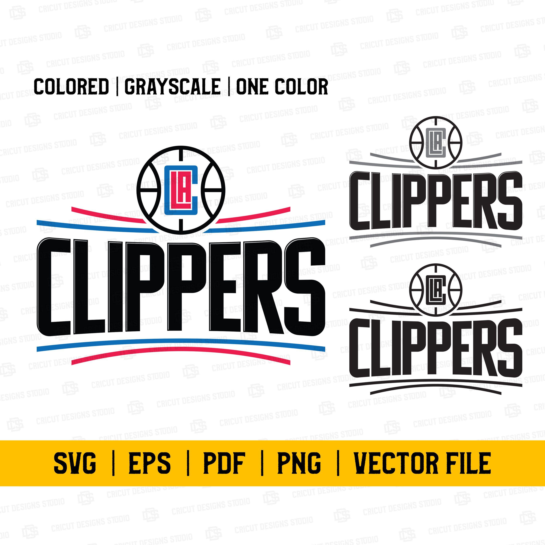 La Clippers Svg Nba La Clippers Svg La Clippers Logo Svg Nba Team La Clippers Nba Logo Svg Cricut File Grayscale Nba Logo Nba Teams Nba