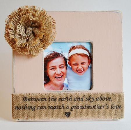 Rustic Grandmother Picture Frame Gift Grandmother Picture Frame ...