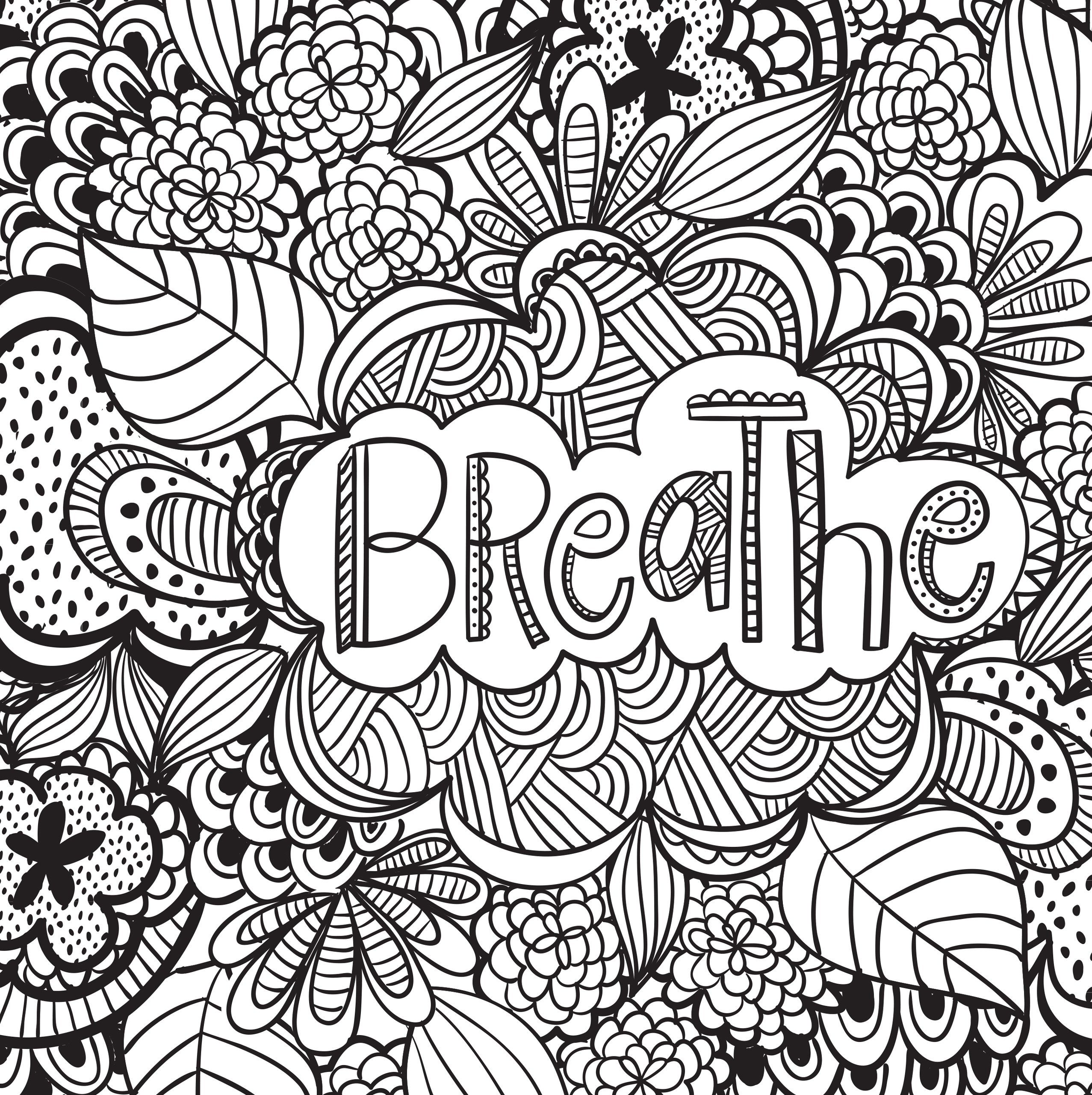 Inspirational Quotes Coloring Pages For Adults : Joyful inspiration adult coloring book stress