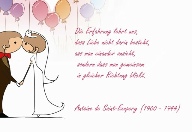 Delicieux Exupery Hochzeitssprüche Gedichte Brautpaar