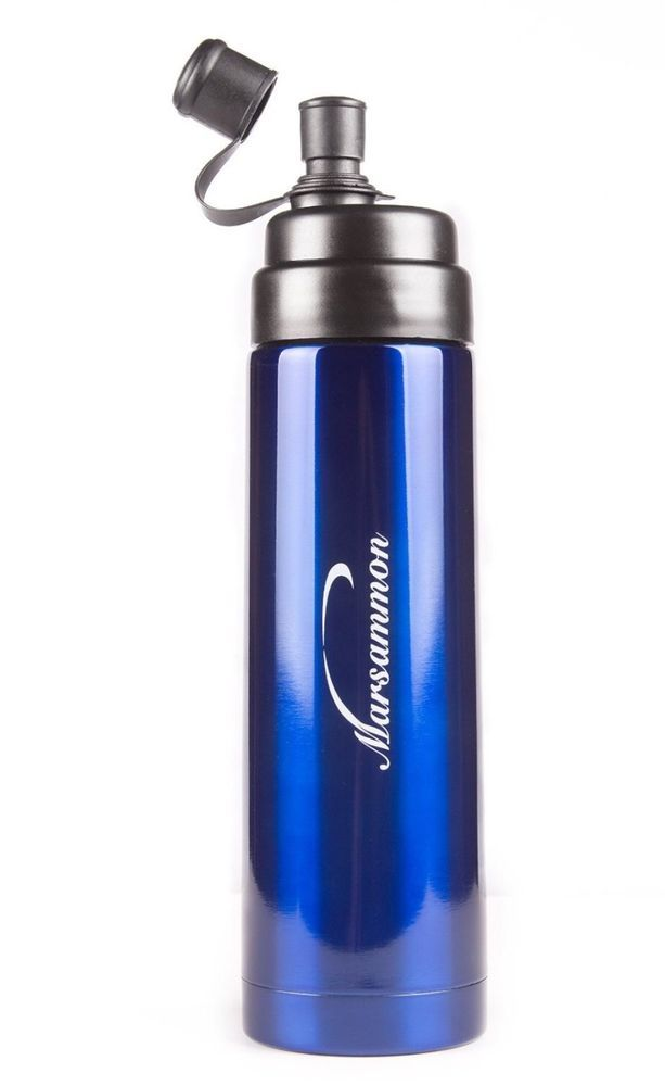 #Ebay #Water #Bottle #Insulated #Sports #Fitness #Drink #Cycling #Beverages #Temperature #Blue